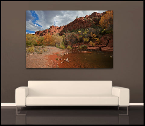 """Autumn in Sedona"" Arizona Fine Art Gallery Wrapped Canvas Print"