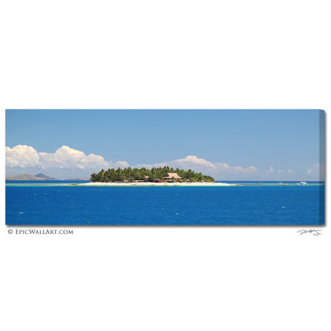 """Beachcomber Island"" Panoramic Fine Art Gallery Wrapped Canvas Print"
