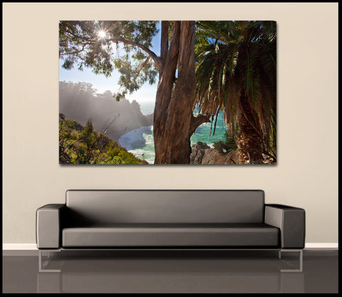 """Big Sur Sunlight"" Coastal Fine Art Gallery Wrapped Canvas Print"