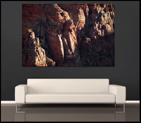 """First Light on Zion"" Utah Nature Fine Art Gallery Wrapped Canvas Print"