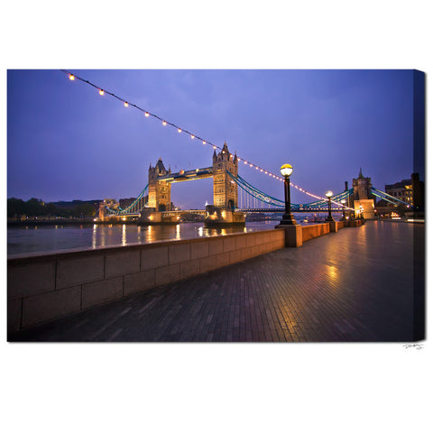 """Morning Light on Tower Bridge"" London Fine Art Gallery Wrapped Canvas Print"