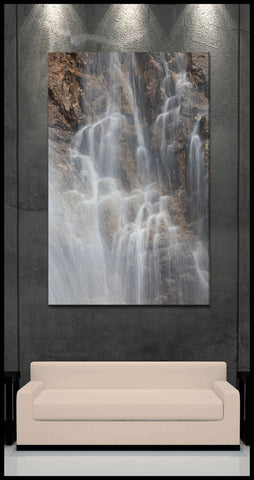 """Flowing Cascades"" Fine Art Gallery Wrapped Canvas Print"