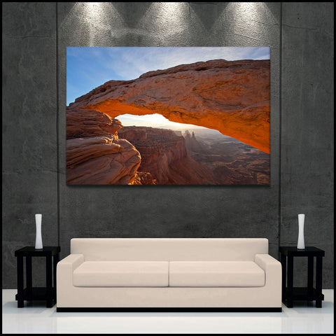 """Mesa Arch Glow"" Canyonlands Fine Art Gallery Wrapped Canvas Print"