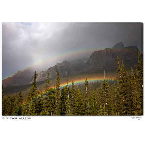 """Mountain Rainbows"" Fine Art Gallery Wrapped Canvas Print"