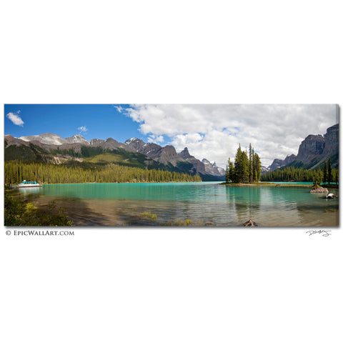 """Spirit Island Panoramic"" Jasper Fine Art Gallery Wrapped Canvas Print"
