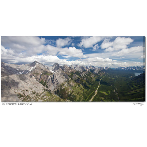 """The Towering Rockies"" Alberta Fine Art Gallery Wrapped Canvas Print"