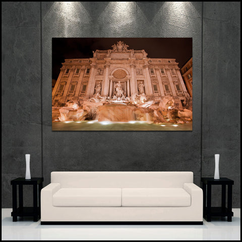 """Trevi Fountain"" Rome Fine Art Gallery Wrapped Canvas Print"