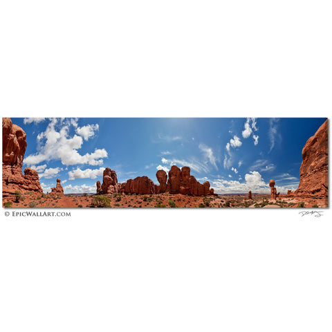 """The World of Arches"" 360º Panoramic Fine Art Gallery Wrapped Canvas Print"