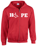 HOPE Hooded Zip-Up - Red