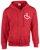 Heart Zip-Up - Red