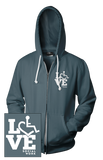 LOVE Social Work Hooded Zip-Up