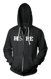 HOPE Hooded Zip-Up - Black