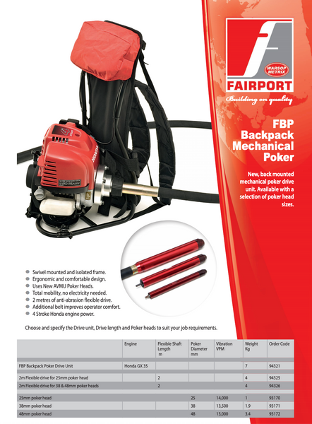 FBP Petrol Back Pack Poker Drive Unit