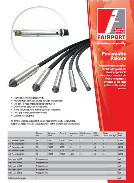 Fairport Pneumatic Pokers