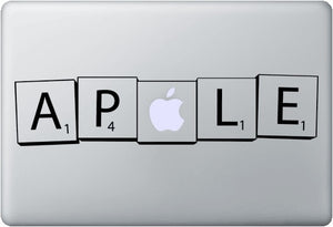 Sticker MacBook SCRABBLE