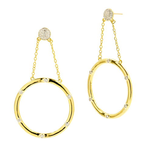 Radiance Open Hoop Drop Earring