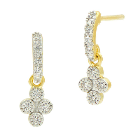 Visionary Fusion Petite Clover Earrings - FREIDA ROTHMAN
