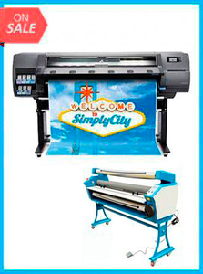 "Latex 110 Printer - Recertified (90 Days Warranty) + 55"" FULL-AUTO LOW TEMP. WIDE FORMAT COLD LAMINATOR, WITH HEAT ASSISTED"