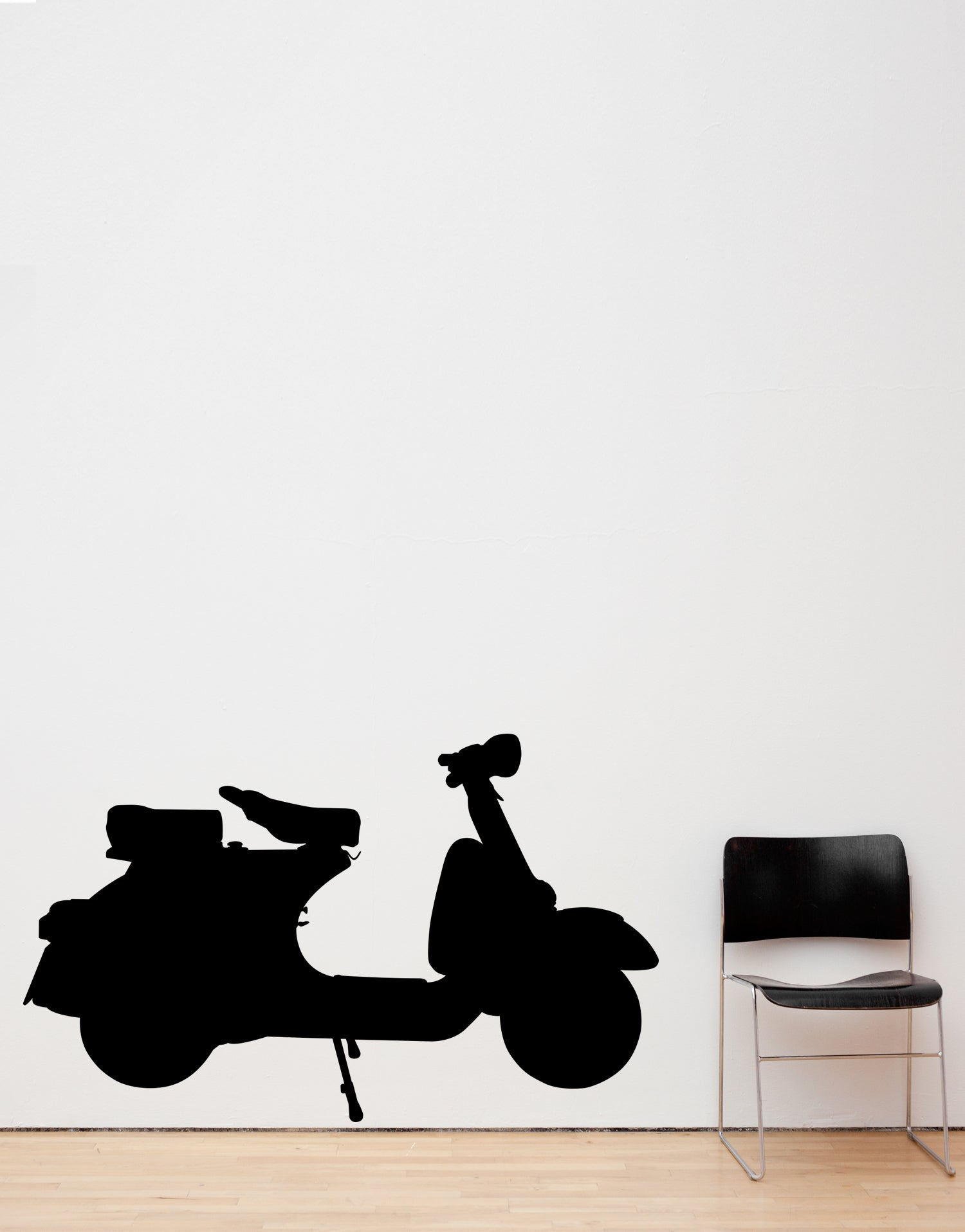 Classic Vespa Moped Scooter Wall Decal Home decor. #549