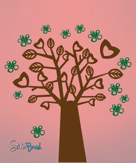 Vinyl Wall Decal Sticker Lovely Tree #663