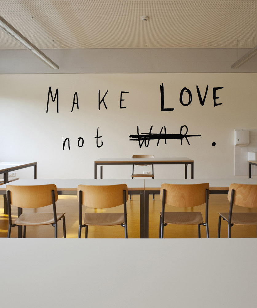 Vinyl Wall Decal Sticker Make Love Not War #OS_MB506