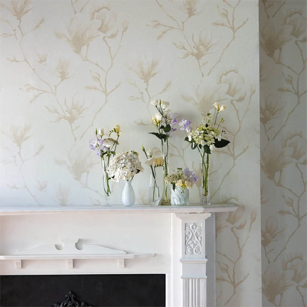 Harlequin Lotus Wallpaper 110877 in Pearl.