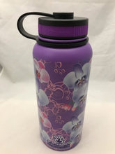 Load image into Gallery viewer, 32oz Water Bottle Insulated Double Wall UV Print Hawaiian Vanda Orchid Wrap New