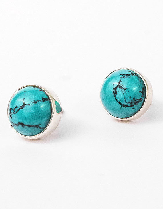 Turquoise Studs - Silver