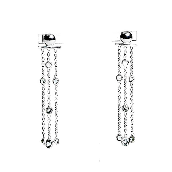 Water Earrings - Silver & Aquamarine
