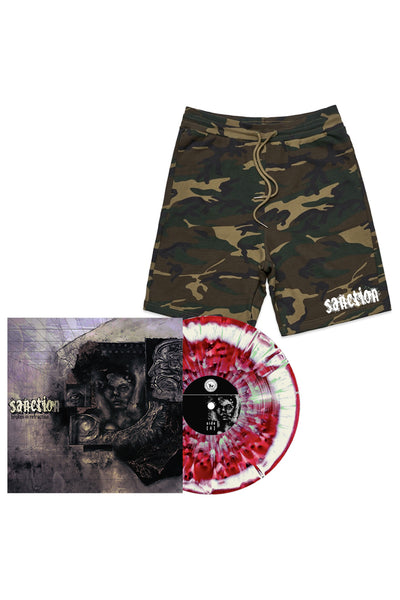 Sanction - Vinyl + Camo Shorts Bundle - Merch Limited