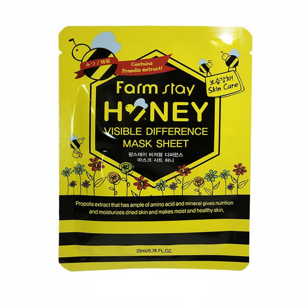 Тканевая маска FARM STAY Visible Difference Mask Sheet Honey с мёдом