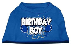 Mirage Pet Products 16-Inch Birthday Screen Print Shirts, X-Large Blue