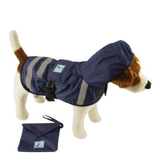One for Pets Safety Hooded Raincoats, 16-Inch, Dark Blue