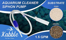 Kabble Genuine Aquarium Cleaner Siphon Pump/Aquarium Cleaner/Aquarium Fish Tank Gravel Sand Cleaner/Fish Aquarium Vacuum Filter Cleaner - with Long Nozzle and Water Flow Controller - BPA Free Blue 1-pack