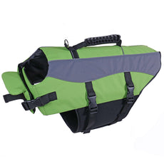 Speedy Pet Dog Life Jacket Vest Safety Swimsuit Pet Life Preserver with Reflective Stripes Green S
