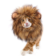 Lovelion Lion Mane for cat Costume Pet Adjustable Washable Comfortable Fancy Lion Hair Clothes Dress for Halloween Christmas Easter Festival Party Activity