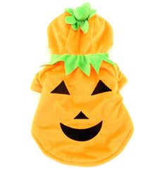 PETLOVE Pet Apparel Small Dog Cat Clothes Winter Fleece Pumpkin Halloween Costume Party Clothing Fance Dress Orange Asia size XL / US size S/M