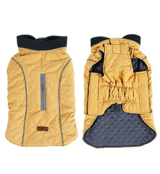 Petslove Pet Warm Diamond Quilted Dog Jacket Coat Vest Dog Reflective Clothes for Winter Cold Weather for Small Medium Large Dog yellow M