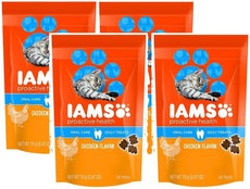IAMS Proactive Health Oral Care Chicken Flavor Daily Treats for Cats, 2.47 Oz (Pack of 4)