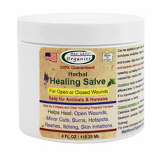 Mad About Organics All Natural Herbal Skin Wound Healing Salve for All Pets 4 oz