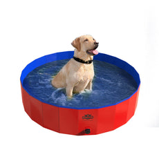 Pet Pool and Bathing Tub-Foldable with Carrying Bag Included, Travel Friendly Tub for Bathing or Playtime-for Dogs, Cats and More, 47x12