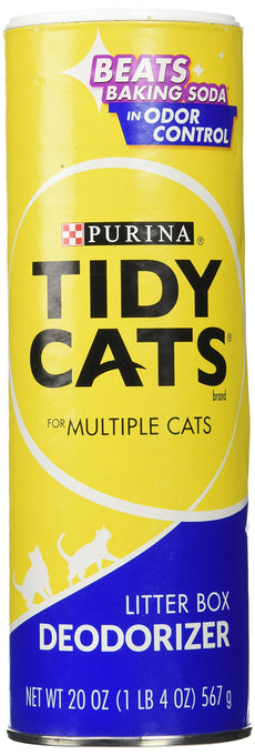 Tidy Cats Purina Litter Box Deodorizer Canisters, 20 oz