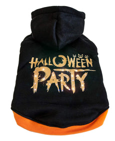 Pet Life LED Lighting Halloween Party Hooded Sweater Pet Costume Black Large