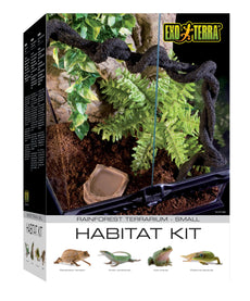 Exo Terra Rainforest Habitat Kit Standard Packaging Small
