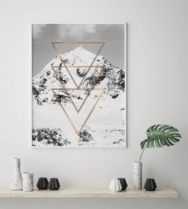 Mountain with Copper Triangles Digital Wall Print - Salt&Printer
