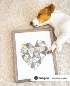 Geometric Heart Digital Wall Print - Salt&Printer