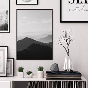 Mountain Silhouettes Digital Wall Print - Salt&Printer