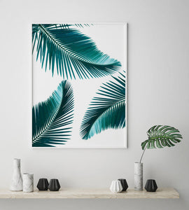 Green Palm Digital Wall Print - Salt&Printer