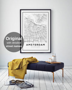 Amsterdam City Map Print - Salt&Printer