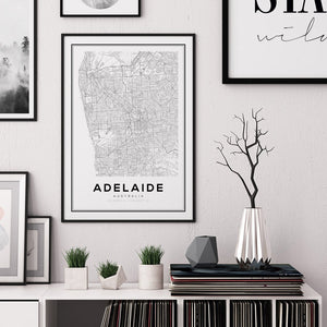Adelaide City Map Print - Salt&Printer